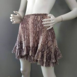 NWT Banana Republic Snakeskin Pleated Miniskirt 8